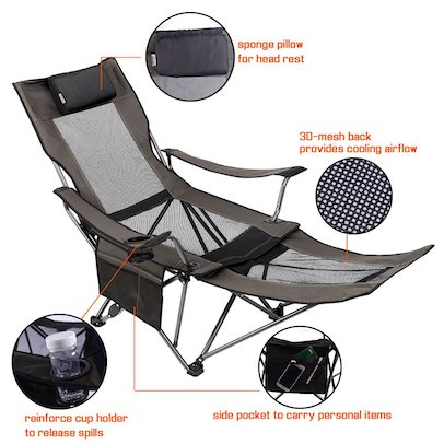 Wondrous Best Reclining Camping Chairs Review Buying Guide 2019 Theyellowbook Wood Chair Design Ideas Theyellowbookinfo