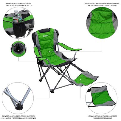 Awe Inspiring Best Reclining Camping Chairs Review Buying Guide 2019 Theyellowbook Wood Chair Design Ideas Theyellowbookinfo