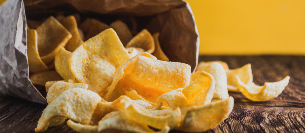Chips always come in a bag which is convenient for long camping trips!