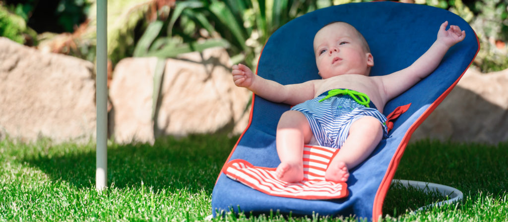A camping chair for infants is a safe and secure place for babies to nap and lounge.