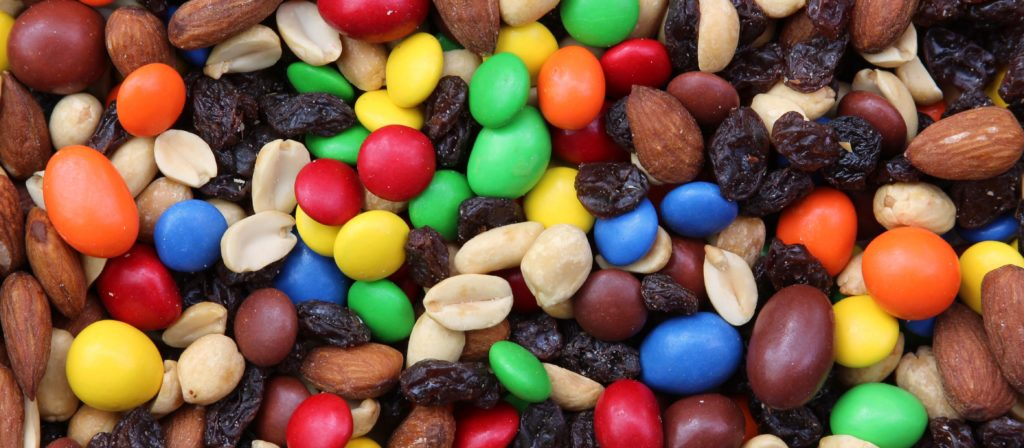 Trail mix delivers a unique blend of tasty ingredients.
