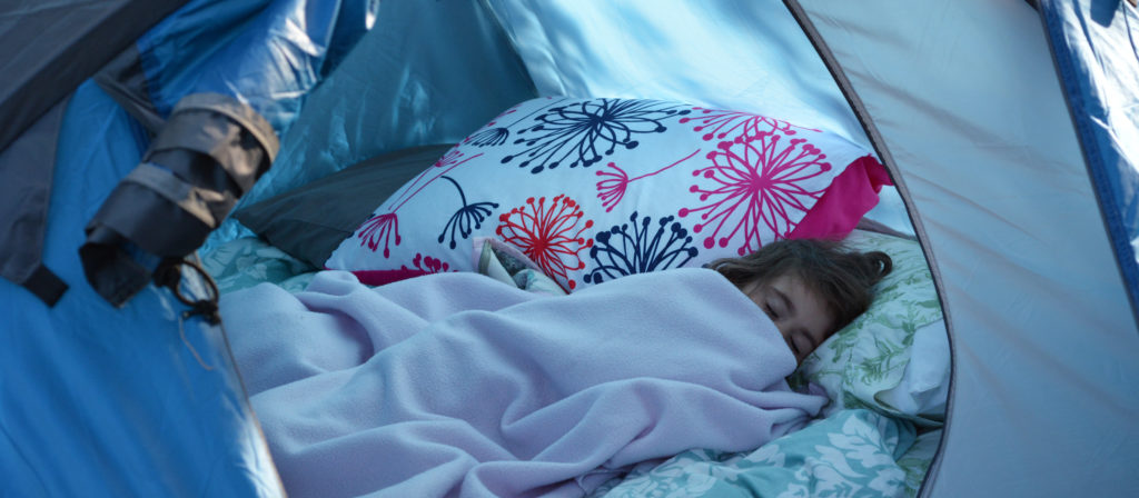 Camping with toddlers and getting them to sleep takes time, patience, and lots of hard work!
