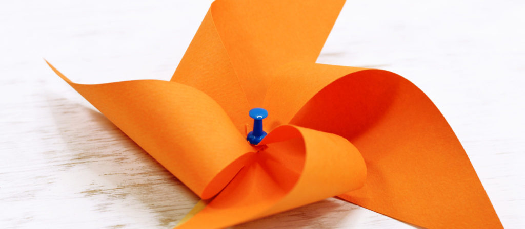 Paper pinwheels are one of the best camping crafts for tweens!
