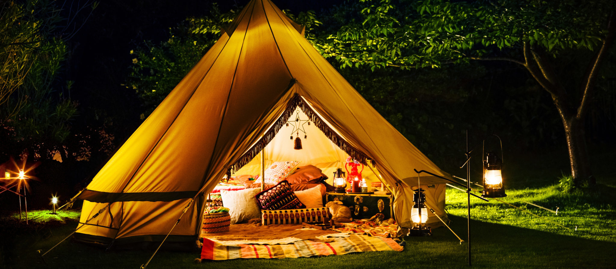 """""""Glamping"""" is more popular than ever. One thing you won't want to forget is a self inflating camping mat."""