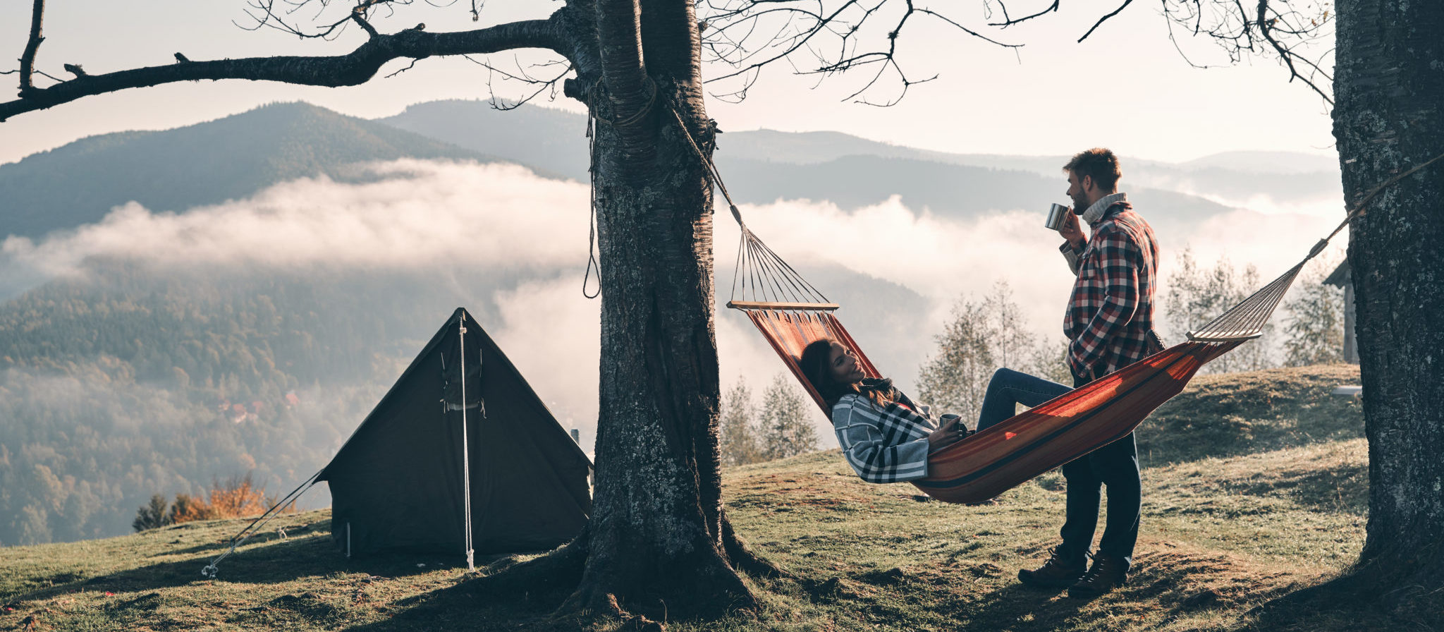 Regardless of whether you choose hammock or tent, a camping trip can be a wonderful romantic getaway