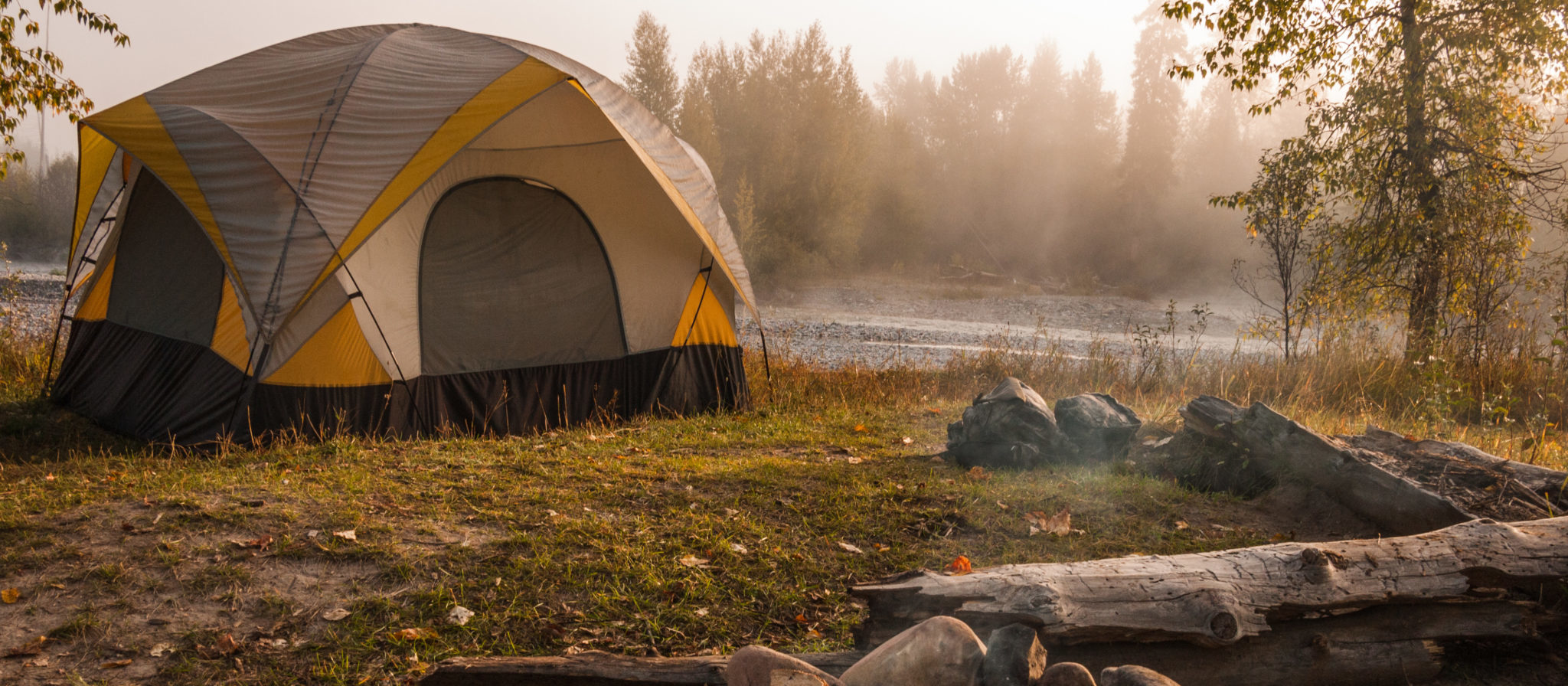 Can you spot what's missing from this campsite? Hint: it's the subject of our guide today.