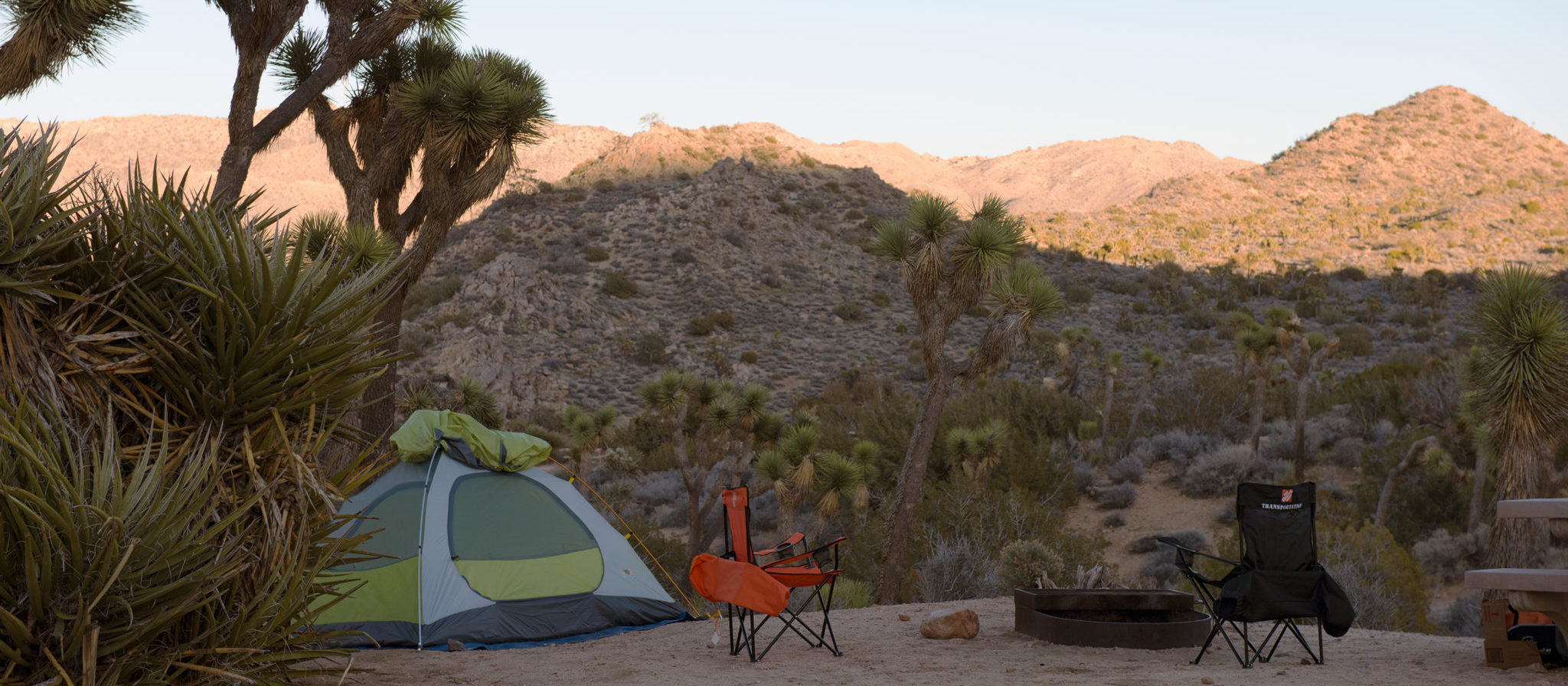 Black Rock Canyon Campground is located on the north side of the Joshua Tree National Park.