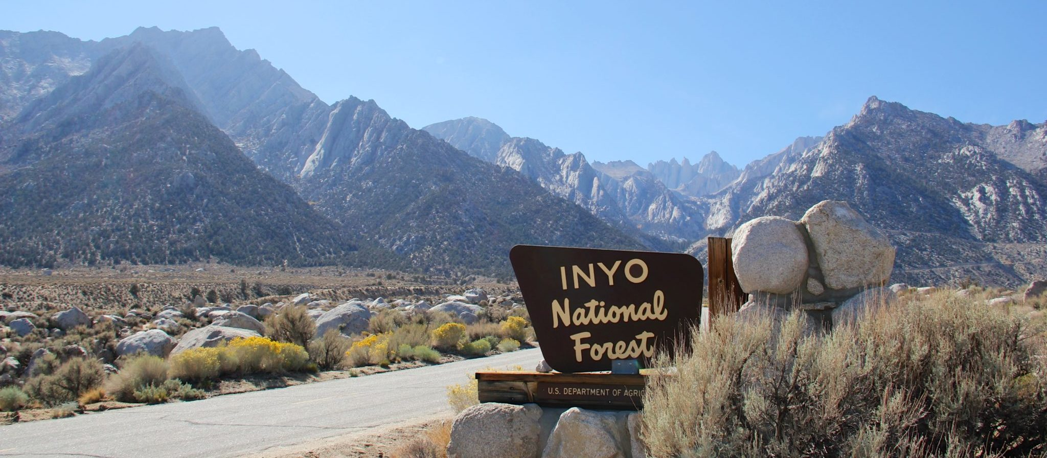 The vast area covered by the Inyo National Forest consists of forest, mountains, desert, lakes and more.