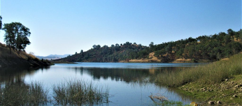 The beautiful Mokeumne River runs alongside the Pardee Lake Recreational facilities.