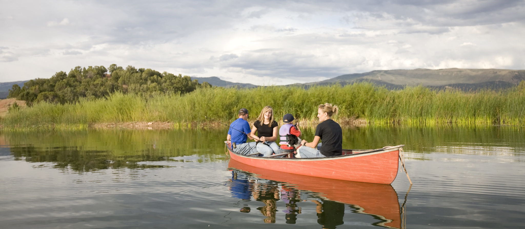 You can pack a small sized family into a canoe without too much trouble. Just make sure everyone is being extra careful so you do not all end up in the water!