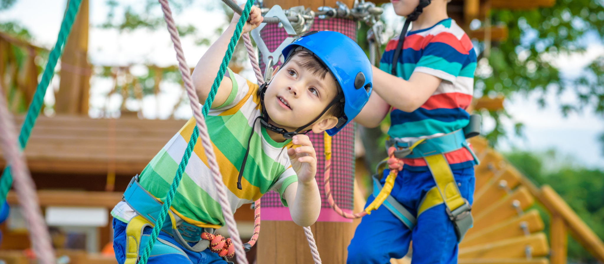 In need of ideas for recreation on your next family trip? Check and see if there are any rope courses or maybe even zip lines near your campsite.